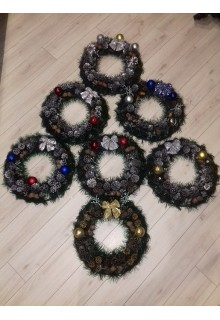 Рождественские декоративные венки в ассортименте 40см