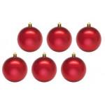 Шары новогодние красные 6 см (9 шт в упаковке)