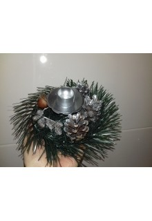 Подсвечник рождественский (серебро, золото в ассортименте)