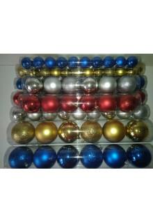 Шары новогодние (парча, мат, глянец) в ассортименте, диаметр 8см