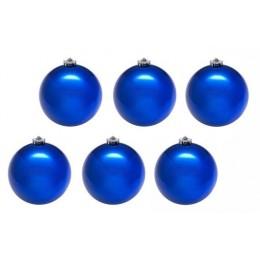Шары новогодние синие 6 см (9 шт в упаковке)