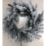 Новогодний венок рождественский заснеженный литой