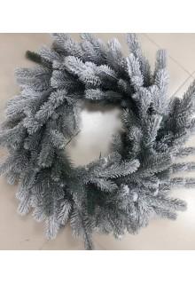 Купить Новогодний рождественский венок заснеженный литой