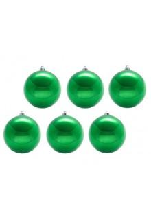 Шары новогодние зеленые 5 см (9шт в упаковке)