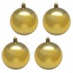 Шары новогодние золотисты 6 см (9 шт в упаковке)